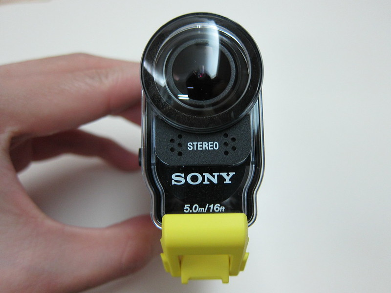 Sony HDRAS20/B Action Video Camera - SPK-AS2 Waterproof Case Front