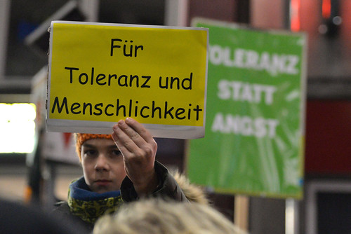 Vielfalt für Freiheit - Demonstration gegen Dügida 12.1.2015