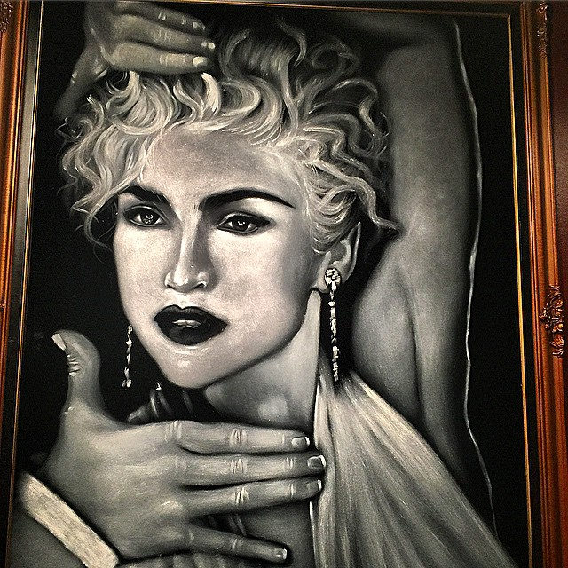 #Madonna #art in #hopcat in #Detroit