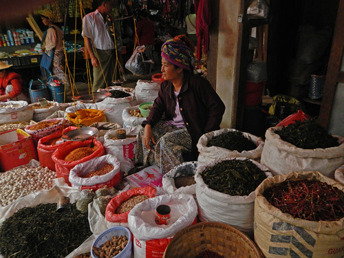 A Variety of Produce for Sale at the Inle Lake Market (Myanmar)