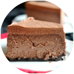 chocolate cheesecake with mousse topping