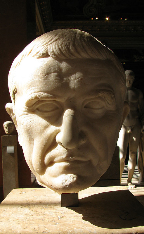 Bust of Marcus Licinius Crassus located in the Louvre, Paris