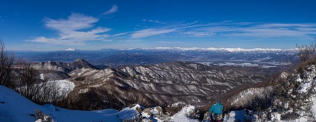 黒檜山展望台の光景