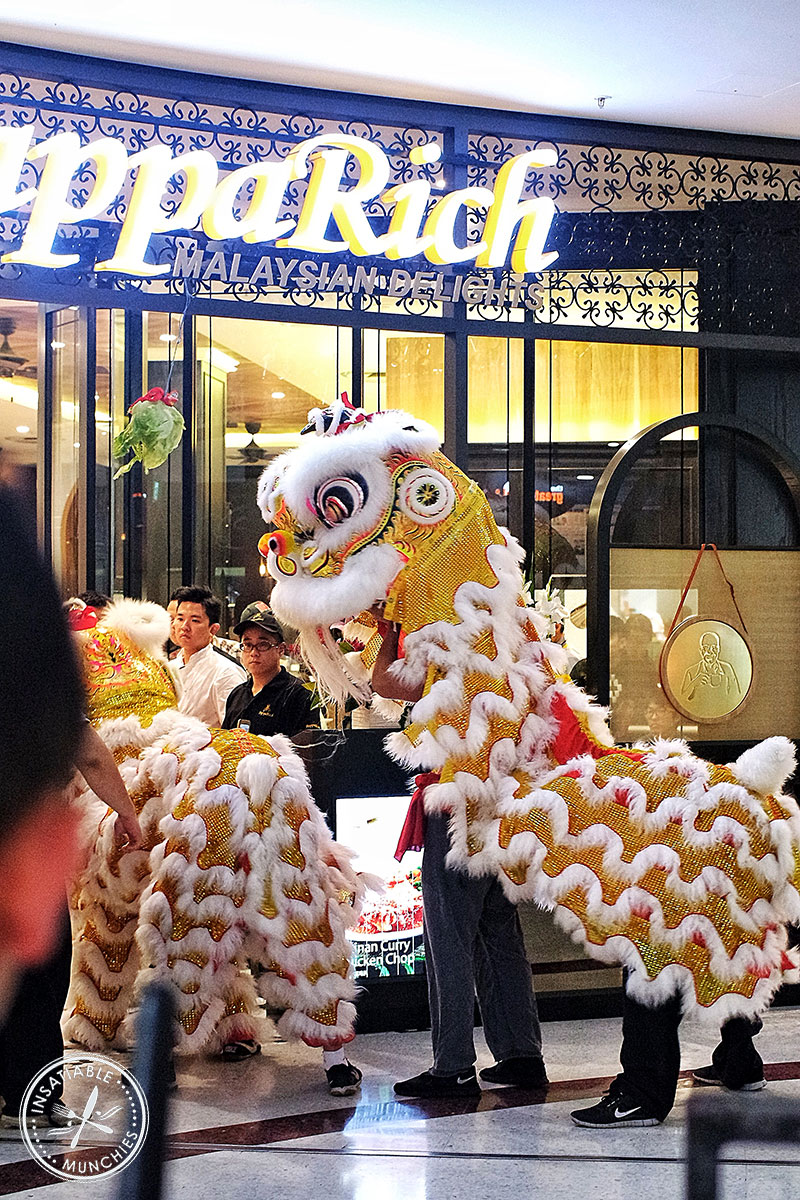 Lion Dance to celebrate the opening of PappaRich Macquarie