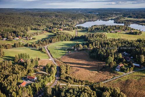 sverige swe västragötaland bengtsfors flygfoto gunnarsbyn fårenäs