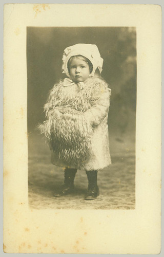 Small Child, dressed in fur
