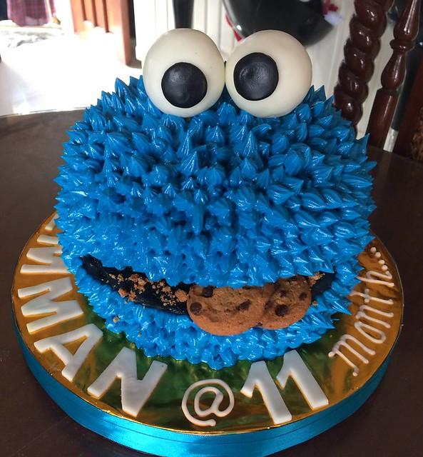 Cookie Monster Cake by Fortune Cruz Reyes