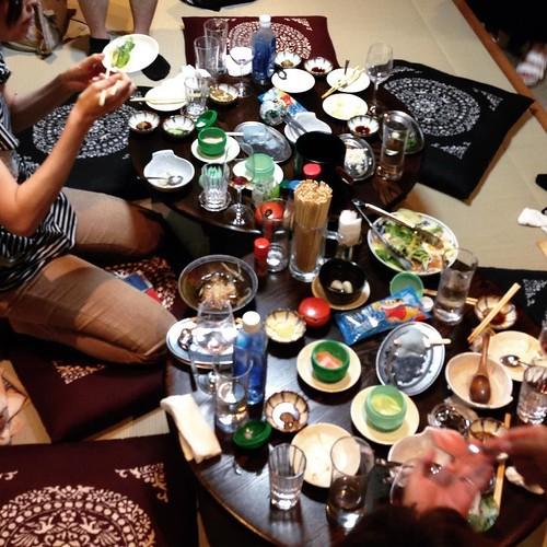 よく飲み、よく食べました。幸せだ。 #大喜利 #新丸子