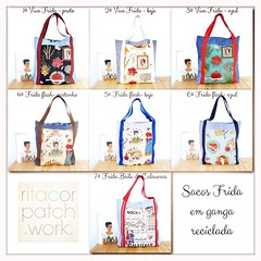 Novos sacos Frida Kahlo ❣