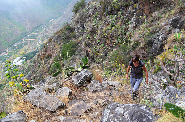 Steep trails, La Gomera, Canary Islands