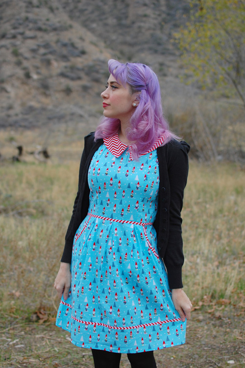 Retrolicious Modcloth All Eyes On Unique dress in Gnomes 009