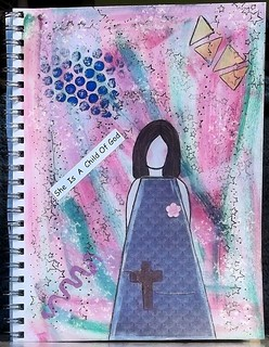 She Art done on a Journal page