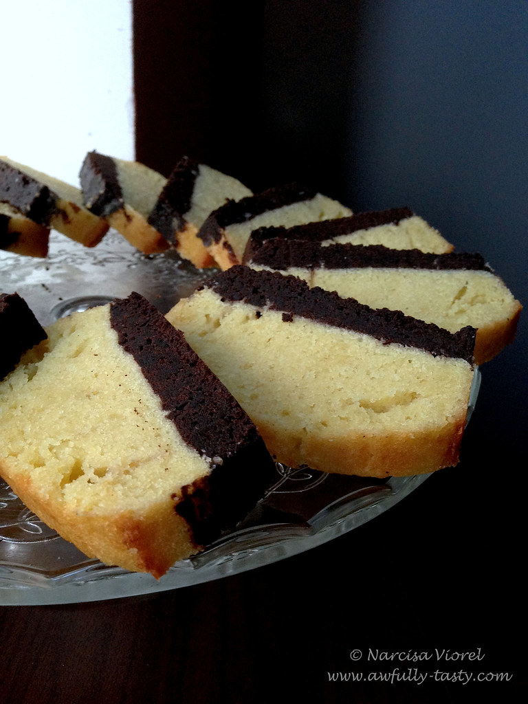 Brownie vanilla cake