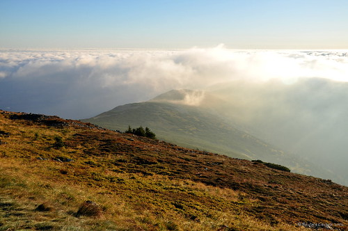 morning mist mountain clouds sunrise poland karkonosze d90 nikon90