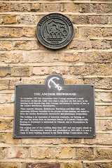 Photo of Anchor Brewhouse, London and John Courage bronze plaque