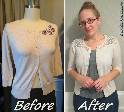 Loke-Yoke Cardi - Before & After