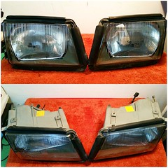 #For#Sale#Used#Parts#Mercedes#Benz#OEM#W126#SClass#Coupe#alyehliparts#alyehli#UAE#AbuDhabi#AlFalah#City  - FOR SALE MERCEDES BENZ OEM USED PARTS :  - W126 560 SEC 'AMBER' HEADLIGHTS - VERY CLEAN   - WEIGHT : 4.90KGM   Price :    900-/AED Price :  $245-/
