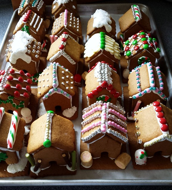 Tray Of Gingerbread Houses
