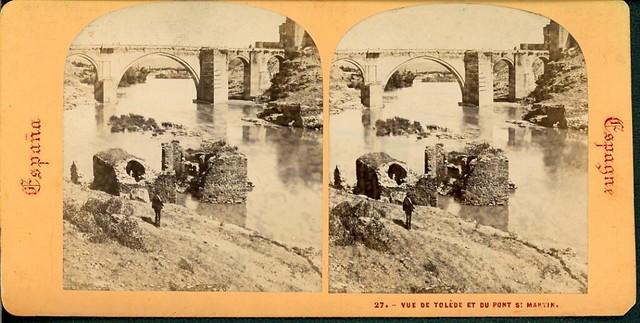 Fotografía Estereoscópica de Lamy. Puente de San Martín
