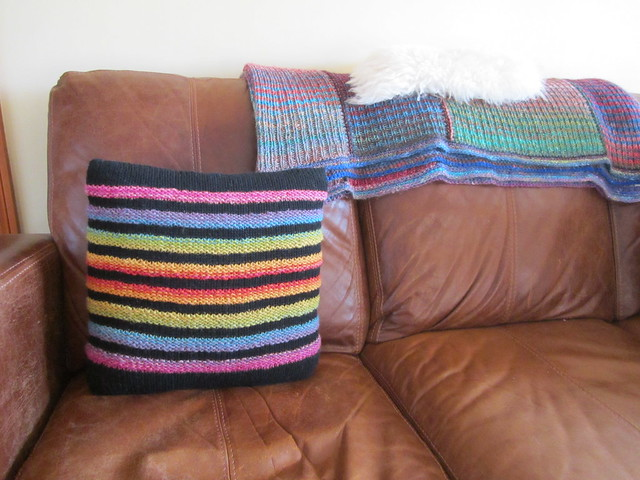Wurmy rainbow cushion (2)