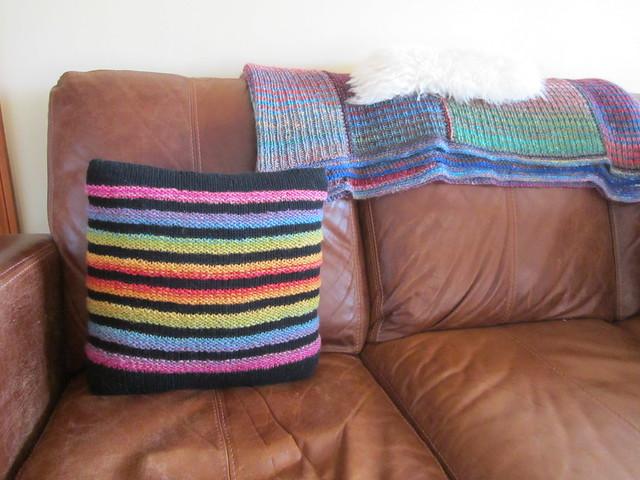 Wurmy rainbow cushion (2)