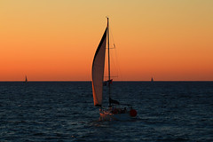sailing at the golden hour - Hertzelia beach