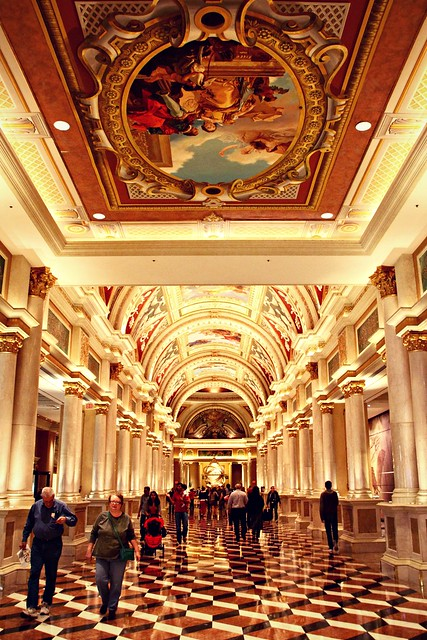 Corridor in The Venetian hotel & casino