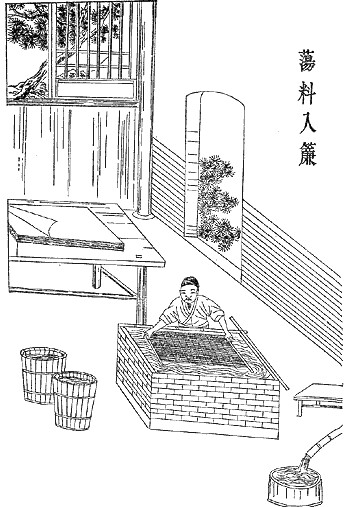 An illustration depicting the paper-making process designed by Cai Lun (3)
