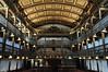 Nef et tribunes, église Notre-Dame de l'Assomption (XIVe, XVIe, XVIIIe), La Bastide-Clairence, Basse-Navarre, Pays Basque, Pyrénées-Atlantiques, Aquitaine, France.