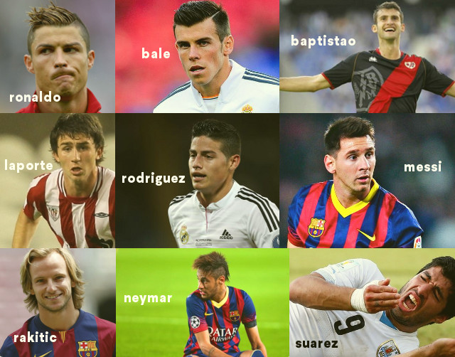 The stars of La Liga Spanish soccer