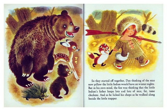 005-The Little Trapper- Illustrated Gustaf Tenggren- Copyright 1950- via goldengems.blogspot