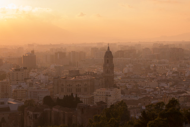 Malaga At Sunset - Spain