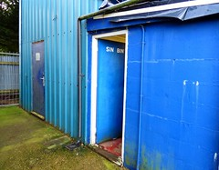 outdoor structure(0.0), shipping container(0.0), shed(1.0), blue(1.0),