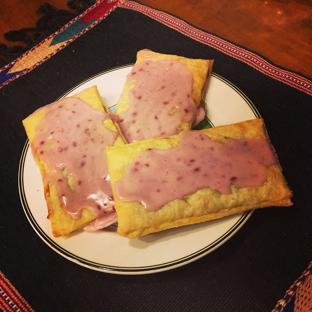 I made some loganberry pop tarts.