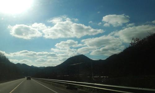 구름이 예술이다 |  시골집풍경