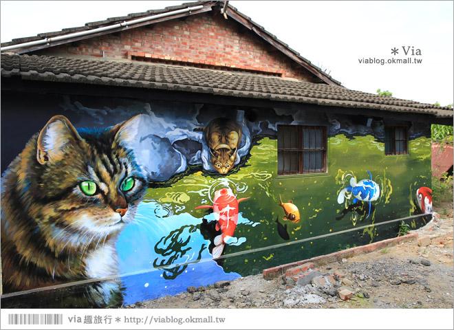 【嘉義菁埔貓世界】嘉義貓村~菁埔彩繪村。迷你版貓村,立體貓掌好俏皮!24