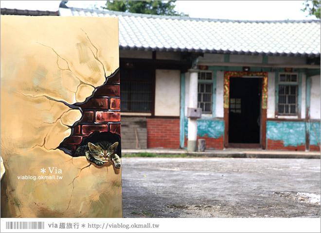 【嘉義菁埔貓世界】嘉義貓村~菁埔彩繪村。迷你版貓村,立體貓掌好俏皮!32