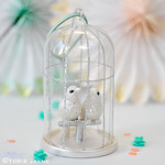 Birdcage Christmas tree decoration