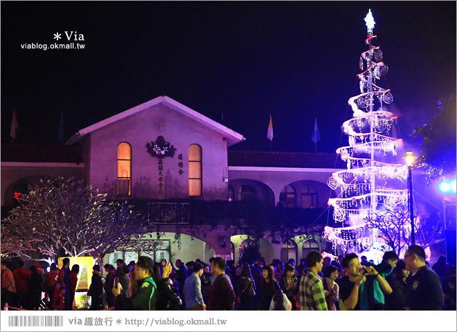 【萬金教堂】屏東萬金教堂聖誕季~3D光雕秀+耶誕地景藝術/全台最濃耶味小鎮!65