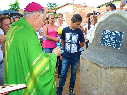 The blessing of the cornerstone at the Real Conquista Project