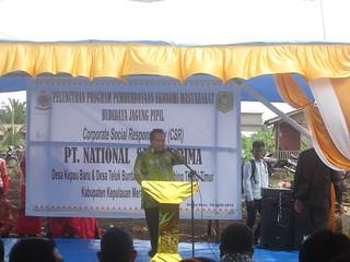 Sambutan dalam Program Budidaya Jagung Pupil PT NSP