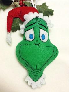 Happy Grinch Ornament