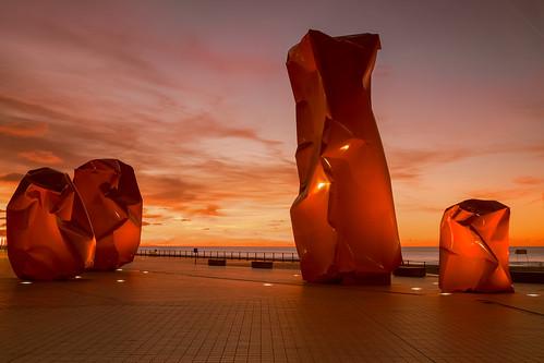 sunset seascape belgium modernart ostend rockstrangers