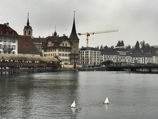 Image of Kapellbrücke near Lucerne. kapellbrücke