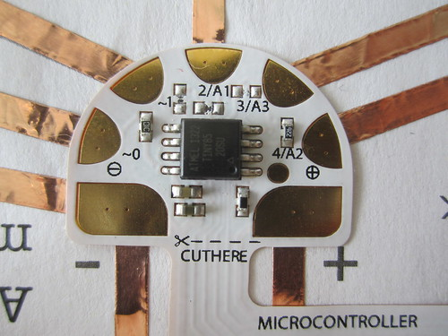 circuit sticker microcontroller template