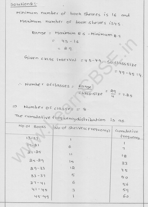 RD Sharma Class 9 solutions Chapter 22 Tabular Representation of Statistical Data EX 22.2 4