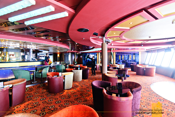 Skyline Bar at the Star Cruises Superstar Aquarius