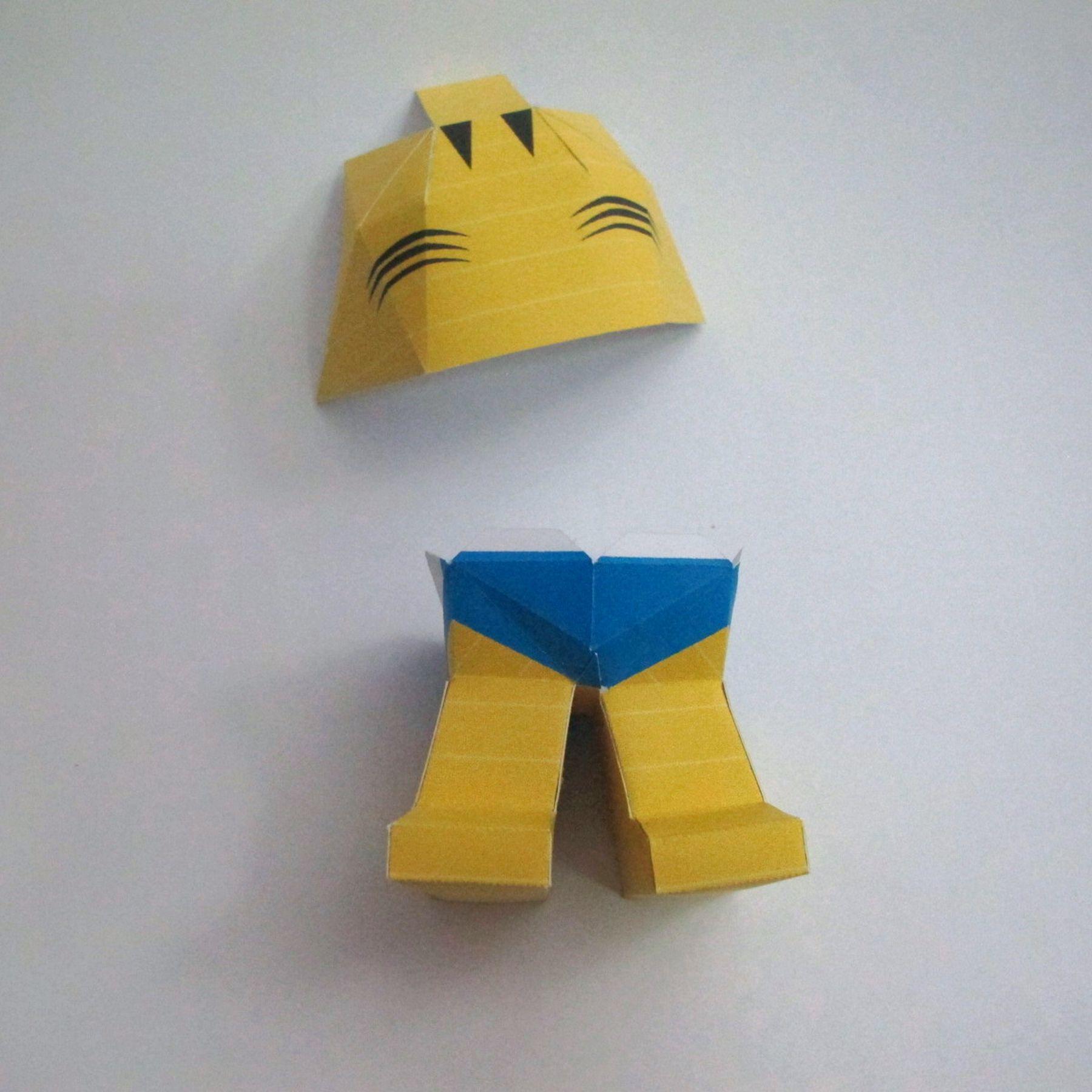 วิธีทำของเล่นโมเดลกระดาษ วูฟเวอรีน (Chibi Wolverine Papercraft Model) 028