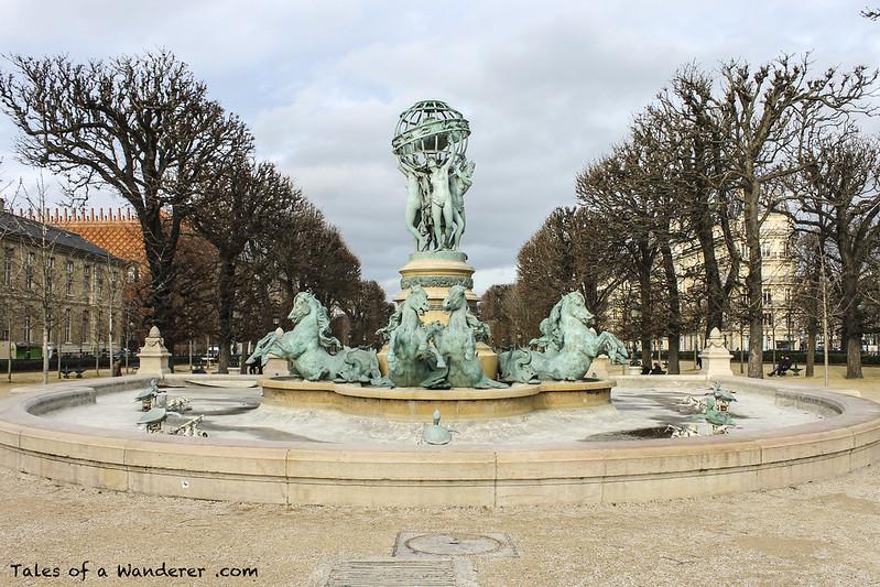 PARIS - Av de l'Observatoire - Fontaine des Quatre-Parties-du-Monde