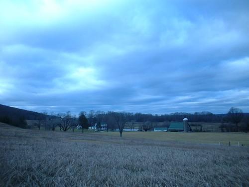 winter sky clouds landscape